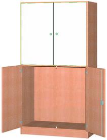 Armoire haute avec 2 portes avec tableau / 2 portes pivotantes