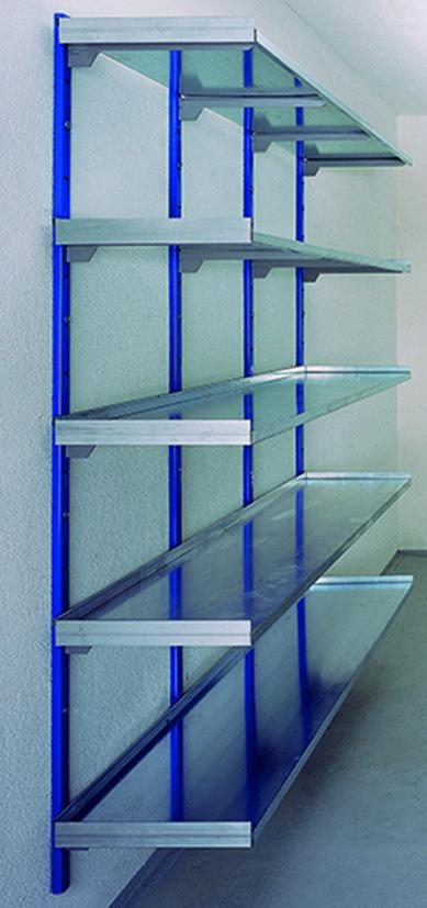 Rails muraux pour système d'étagère STECK