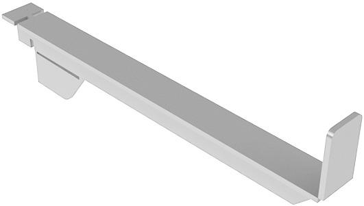 Consoles légères avec butée 50 mm perçages ø 5 mm pour système d'étagère STECK