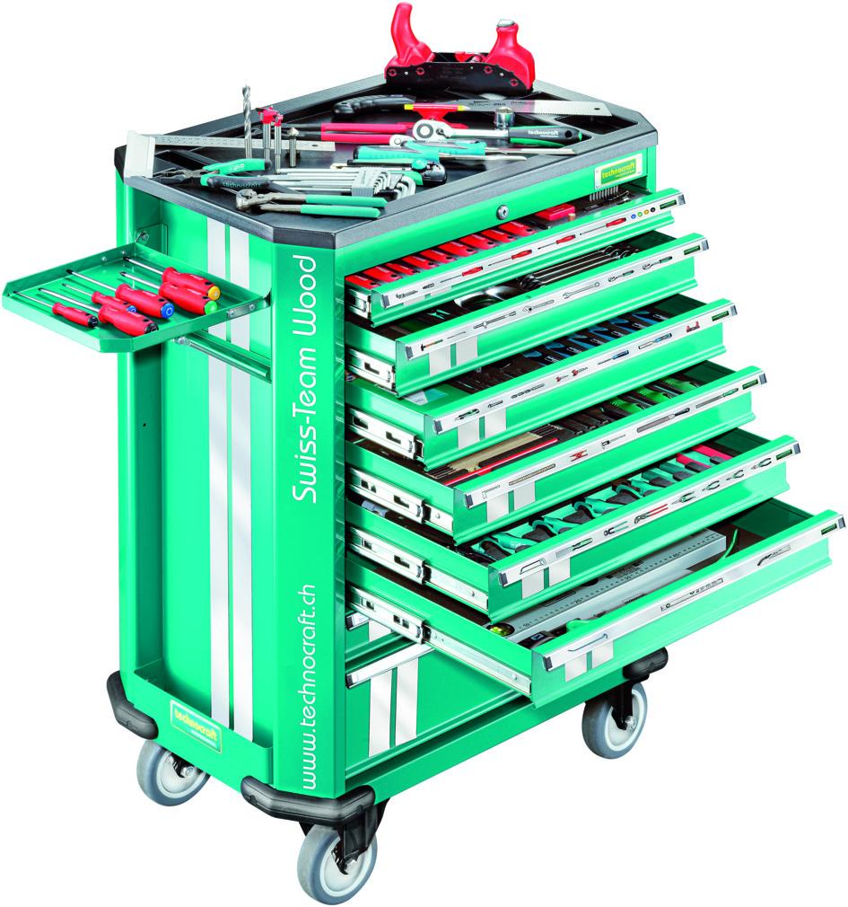 Chariot d'outils TECHNOKRAFT SWISS TEAM WOOD 282