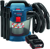Aspiratore a batteria a secco e a umido BOSCH GAS 18 V-10 L