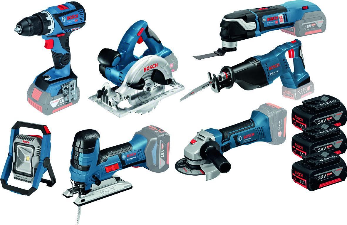 7-tool KIT BOSCH 18 V