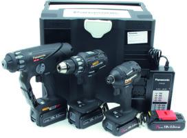 Akku-Maschinen-Set 18 V Li-Ion PANASONIC