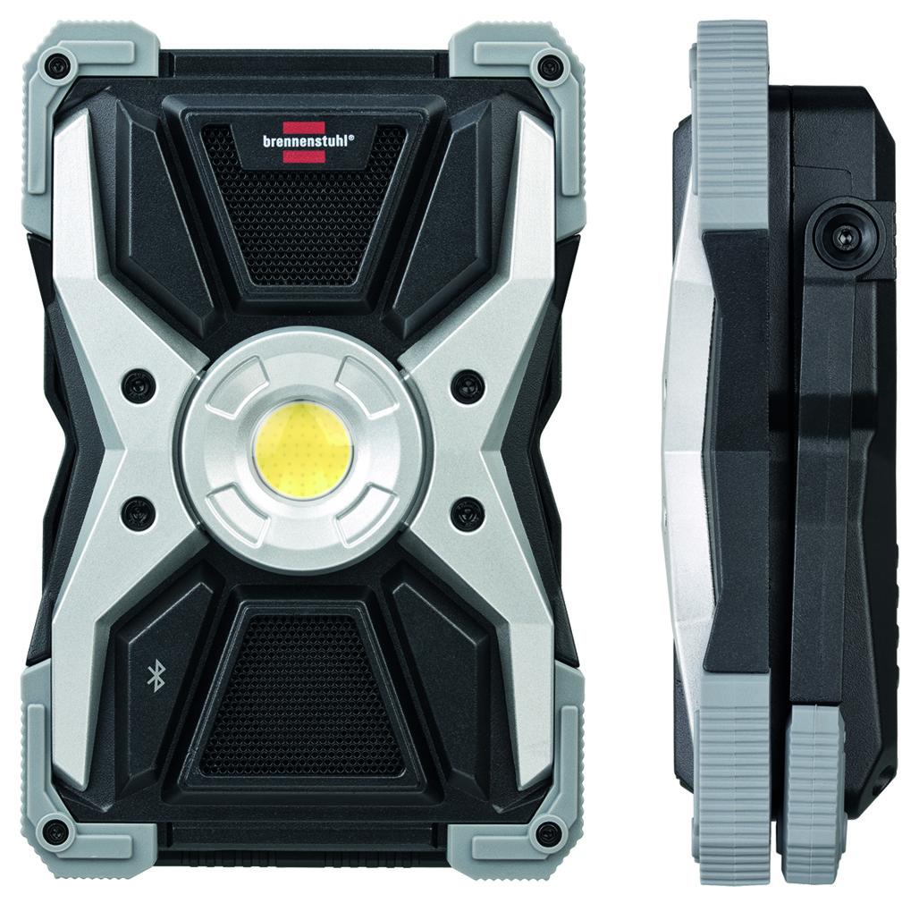 Spot à LED et à accu mobile BRENNENSTUHL RUFUS 3010 MA avec haut-parleur Bluetooth