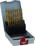 Kit di punte elicoidali HSS-TiN