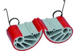 Ganasce eccentriche per maniglie di trasporto portapannelli
