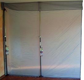Paroi de protection contre la poussière avec fermeture velcro sur le côté