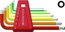 Winkel-Stiftschlüsselsatz PB 212 H-6 RB