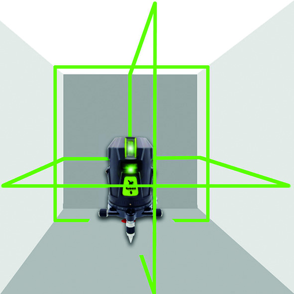 Laser à 5 lignes et ligne d'aplomb geoFennel XGREEN 2