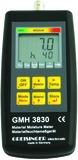 Resistives Materialfeuchte- und Temperaturmessgerät WBH GMH 3830