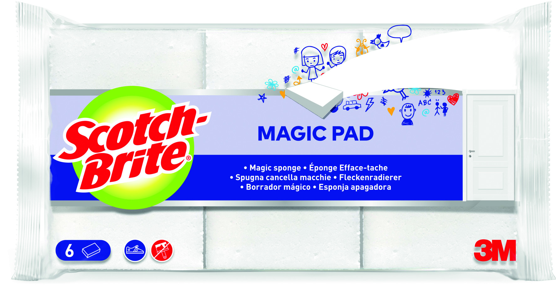 Magic Pad Fleckenradierer Scotch-Brite®