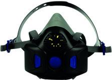 Demi-masque 3M Secure Click HF-802SD avec membrane phonique