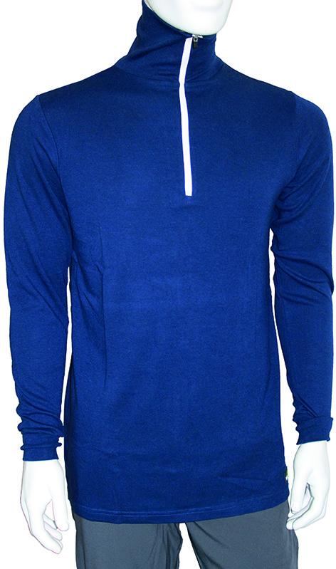 Shirt a collo alto BamBoo blu marina