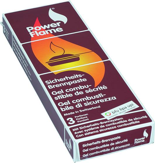 Pasta infiammabile POWER FLAME porzioni confezionate