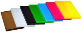 Plaques de plexiglas de couleur GS