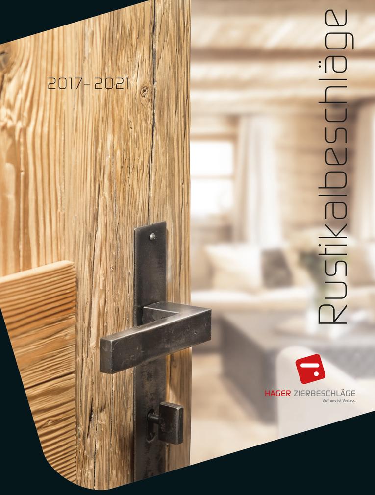Katalog HAGER Rustikalbeschläge 2017-2021
