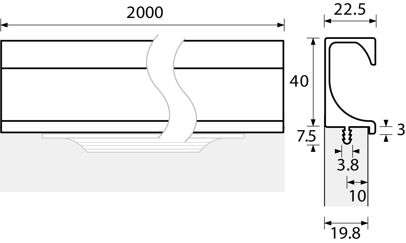 Möbelgriffleisten HETTICH ProDecor Eslinga
