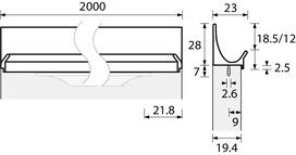 Möbelgriffleisten HETTICH ProDecor Lutetia