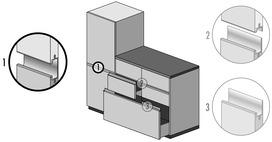 Profils de poignée hauteur 51 mm