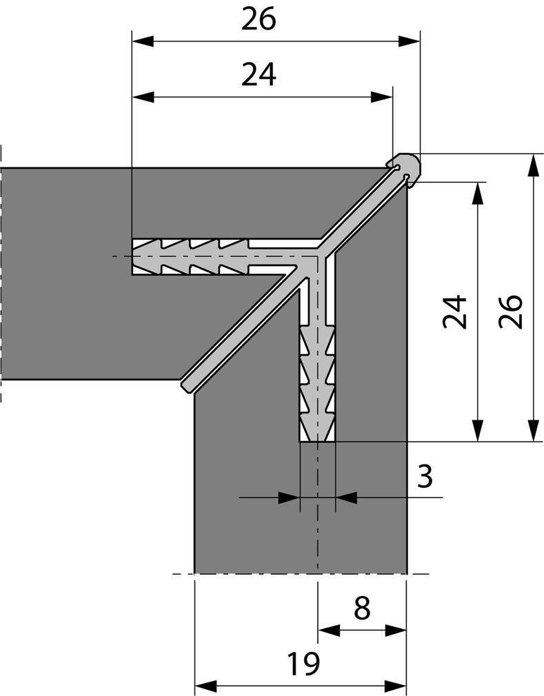 Profili di congiunzione angoli per mobili