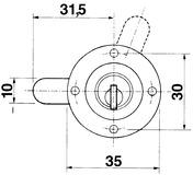 Verschluss-Zylinder KABA 8, Typ 1033