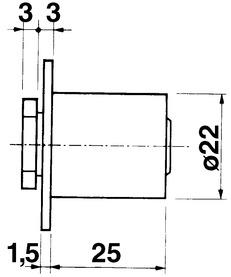 Cylindre de fermeture KABA 8, type 1033