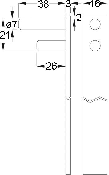 Zentralverschluss-Stangen