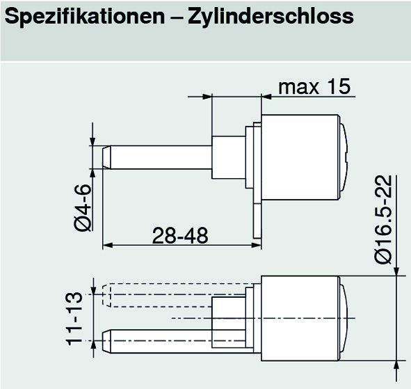 Sperrstangen-Set BLUM CABLOXX für 2 Einheiten 1xM / 1xC