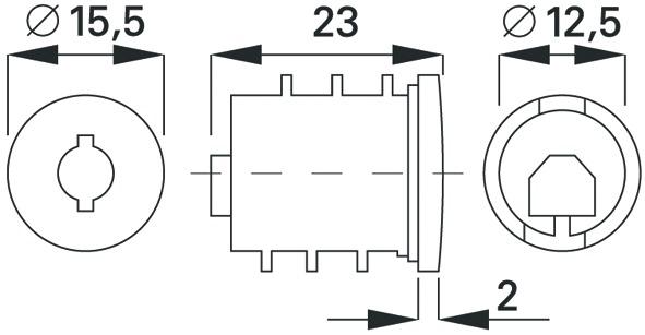 Noyau de cylindre avec clés WKS - P-5000