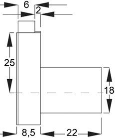 Serrure d'armoire à pène dormant WKS - P5000