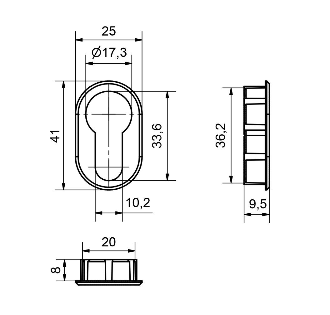 Rosace pour cylindre HEUSSER 3120