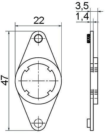 Placche di montaggio Terza 3813T