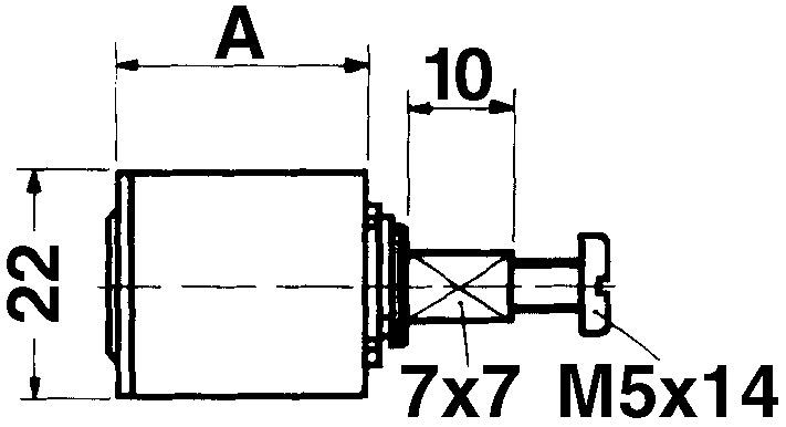 Möbelzylinder KABA 8 Typ 1057