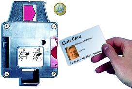 Karten-/Münzpfandschloss SAFE-O-MAT