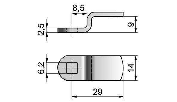 Verschlussriegel Dial Lock 477/460