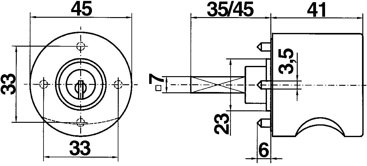 Pomelli girevoli HEUSSER 3413 / WKS - P5000