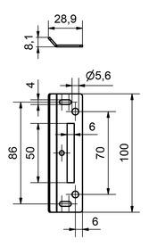 Jeu de gâches pour façades électriques et de colonne technique EI30