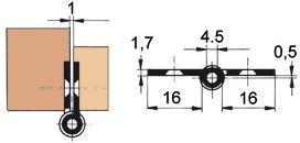Cerniere per mobili FS, diametro rullo 8 mm