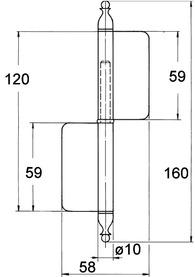 Fiches pour meubles FS, diamètre des noeuds 10 mm