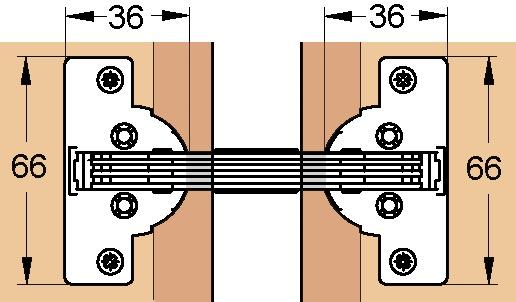 Cerniere oblique per frontali con congiunzione ad angolo di 22,5/45°