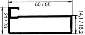 Frais de fabrication et de confection pour maxi Bras télescopique pour abattant 50.694.01 avec cadre alu, largeur 45 mm ou plus