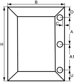 Frais de fabrication et de confection profil 21/20 mm