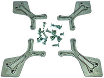 Eckwinkelset für breite Aluminiumrahmen 45-55 mm Breite