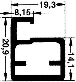 20 mm Schmale Glasrahmentüren mit/ohne Verglasung, Steg 8 mm