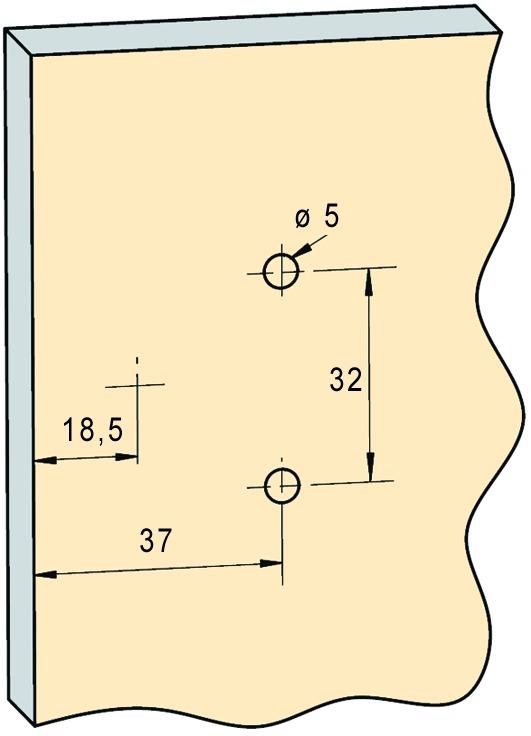 Charnières de portes minces uniaxes PRÄMETA SERIE 3000 plate, recouvr. de porte 13 mm, charnière d'angle, lacet à fleur