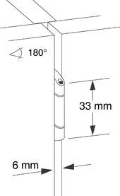 Cerniere doppia a scodellino PRÄMETA SERIE 2600 CLIP, sormonto anta 6.5 mm, perno centrale
