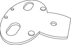 Placchetta distanziatrice per bracci
