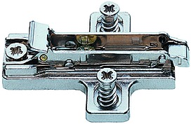 Kreuzmontageplatten SALICE für Schnellmontage-Topfbänder mit vormontierten Euroschrauben, Länge 14 mm
