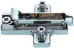 Plaques de montage cruciformes SALICE pour charnières avec vis Euro pré-montées, montage d'angle, à visser
