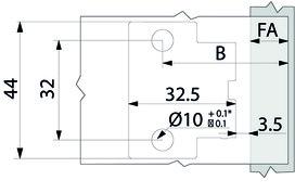 Dünntür-Topfbänder BLUM CLIP top BLUMOTION 110°
